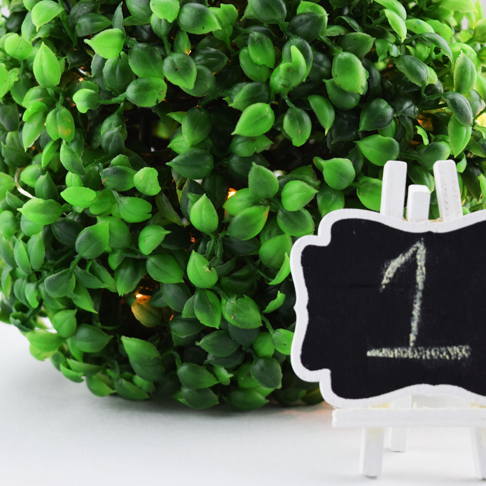 "Quasimoon 7.5"" Boxwood Ball Topiary Wedding & Event Decoration, Green by PaperLanternStore"