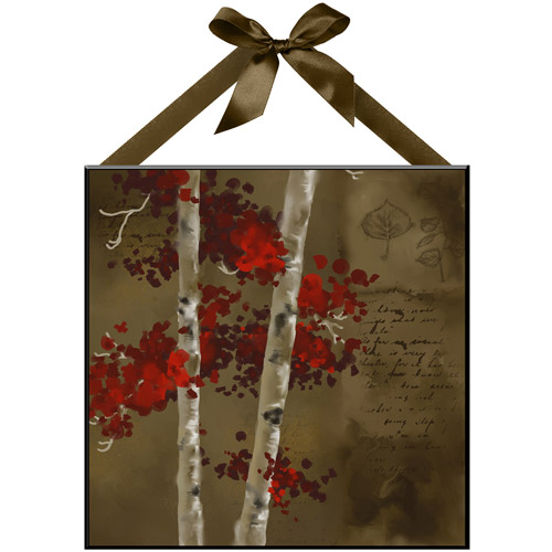 """Fall Birch"" Wall Plaque"