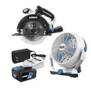 """Best Battery Powered Fans - HART 20-Volt Hybrid Fan and 20-Volt 6-1/2"""" Circ Review"""