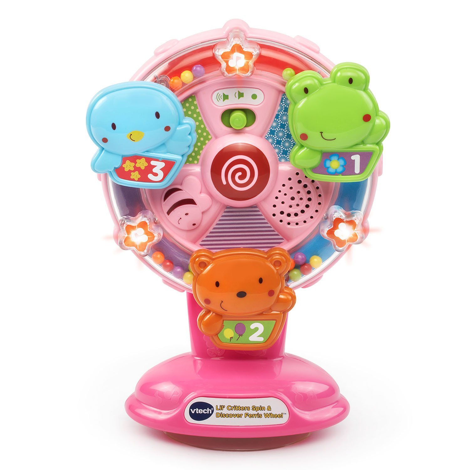 Ba Lil' Critters Spin and Discover Ferris Wheel Pink Online Exclusive, Baby high chair toy... by VTech