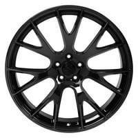 "PartSynergy 22"" Rim fits 2006-2018 Dodge Charger Hellcat Style Black Chrome 22x9 Wheel"