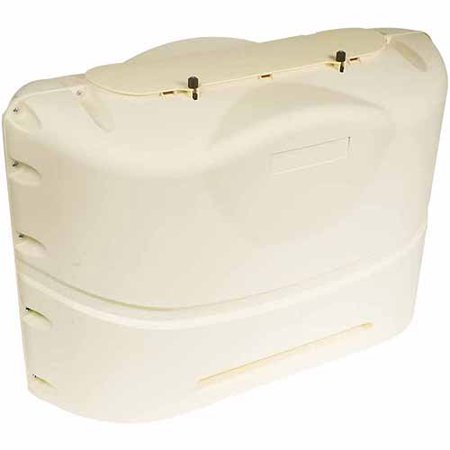 Camco Propane Tank Cover, Colonial White, Fits 20# Steel Double Tank (Camco Propane Tank Cover)