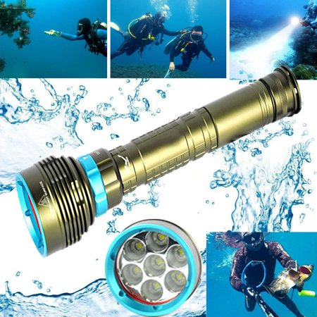 Underwater 200m 20000LM 7x XM-L2 LED Scuba Diving Flashlight 3X18650/26650 Torch