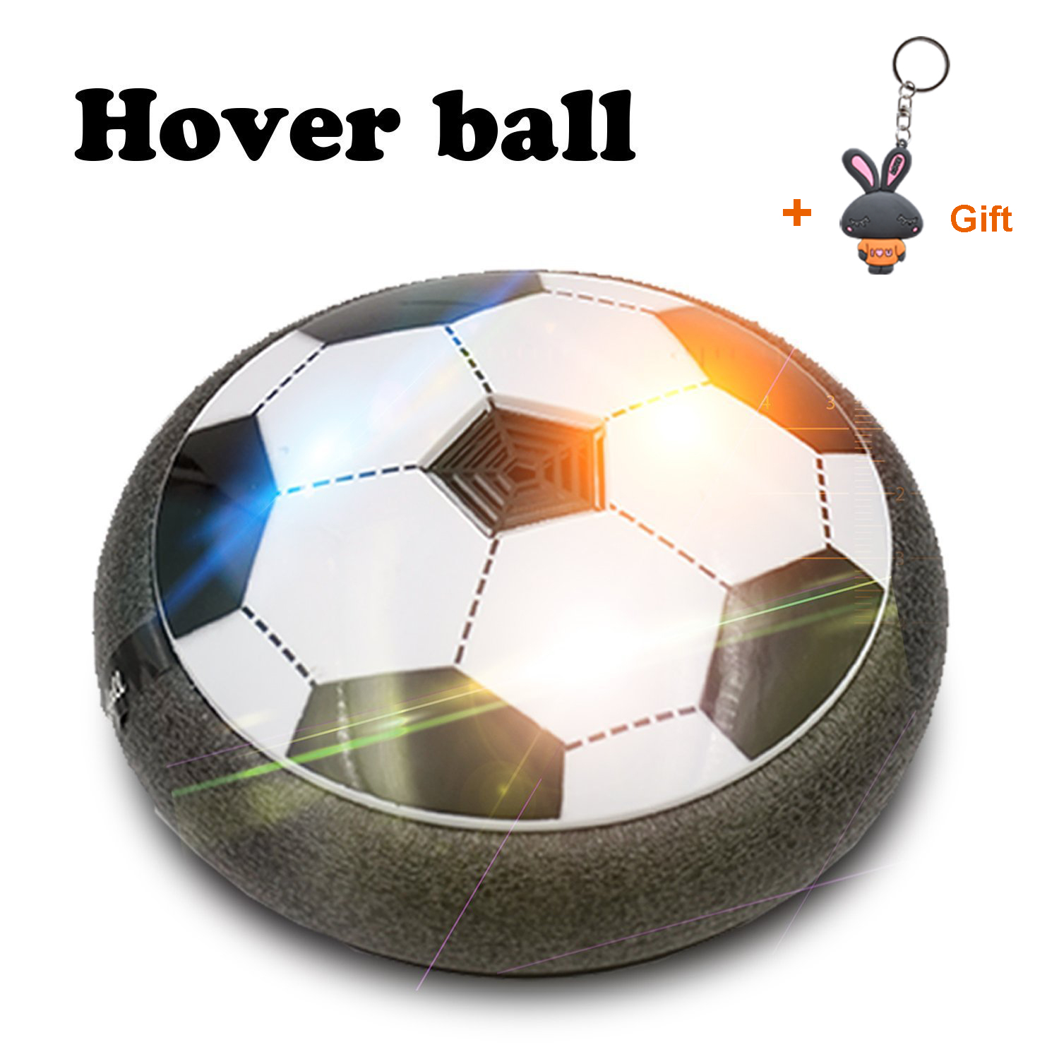 HOWADE Hover Ball Soccer Toy with Powerful LED Light Size 4 for Boys Girls Sport Children... by