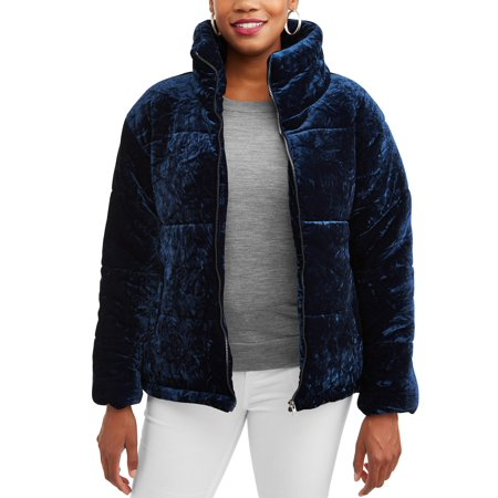 Womens Santa Jacket (Climate Concepts Women's Crushed Velvet Bubble)