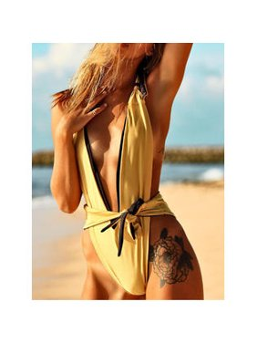 Women Halter One Piece Pretty Holiday Swimwear