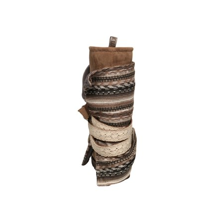 Wrap Boot Boots - Muk Luks Womens Nikki Blanket Boot - Mid-Calf -Taupe or Gray with Removable Wrap