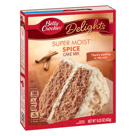 (2 pack) Betty Crocker Super Moist Spice Cake Mix, 15.25 oz