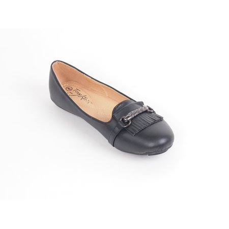 Royal Leather Footwear - Women Ballerina Ballet Flats, Casual Mocassin Slip-On Style Shoes /w Buckle
