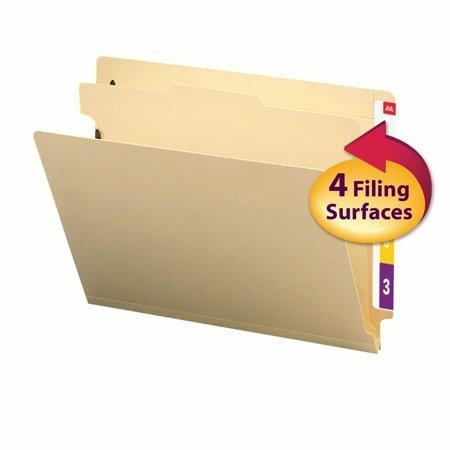 - Smead End Tab Classification File Folder, 1 Divider, 2