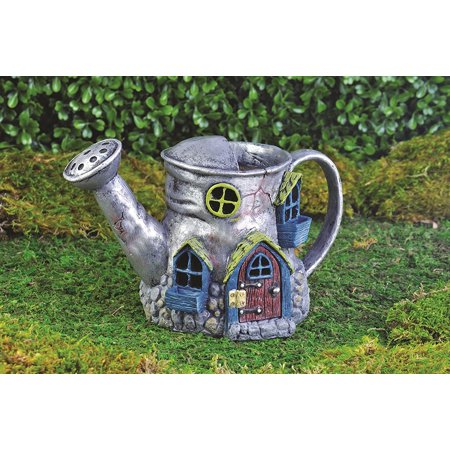 Fiddlehead Fairy Village Old Watering Can Home, 5.5