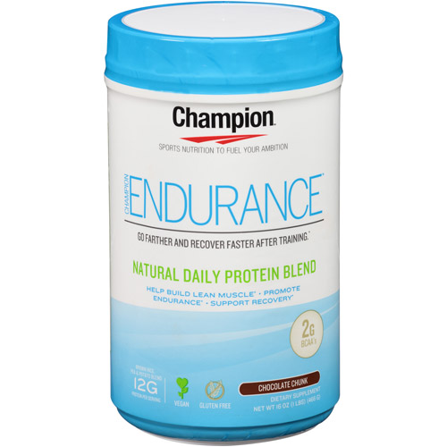 Champion Endurance Chocolate Chunk Natural Daily Protein Blend Dietary Supplement, 16 oz