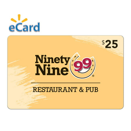99 Restaurants $25 Gift Card (email Delivery)