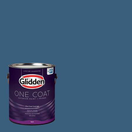 10 Porcelain Finish - Glidden One Coat, Exterior Paint + Primer, Chinese Porcelain