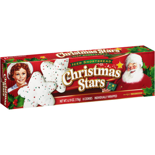 Little Debbie Christmas Stars Iced Shortbread Cookies, 8 count, 6.19 oz
