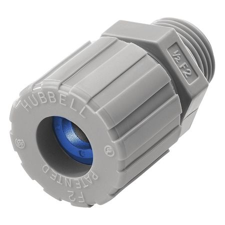 Liquid Tight Connector,1/2 in.,Blue HUBBELL WIRING DEVICE-KELLEMS SHC1023CR