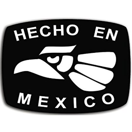 Hecho En Mexico Sticker Decal (Made Mexican decal hispanic) 3 x 5 inch ()
