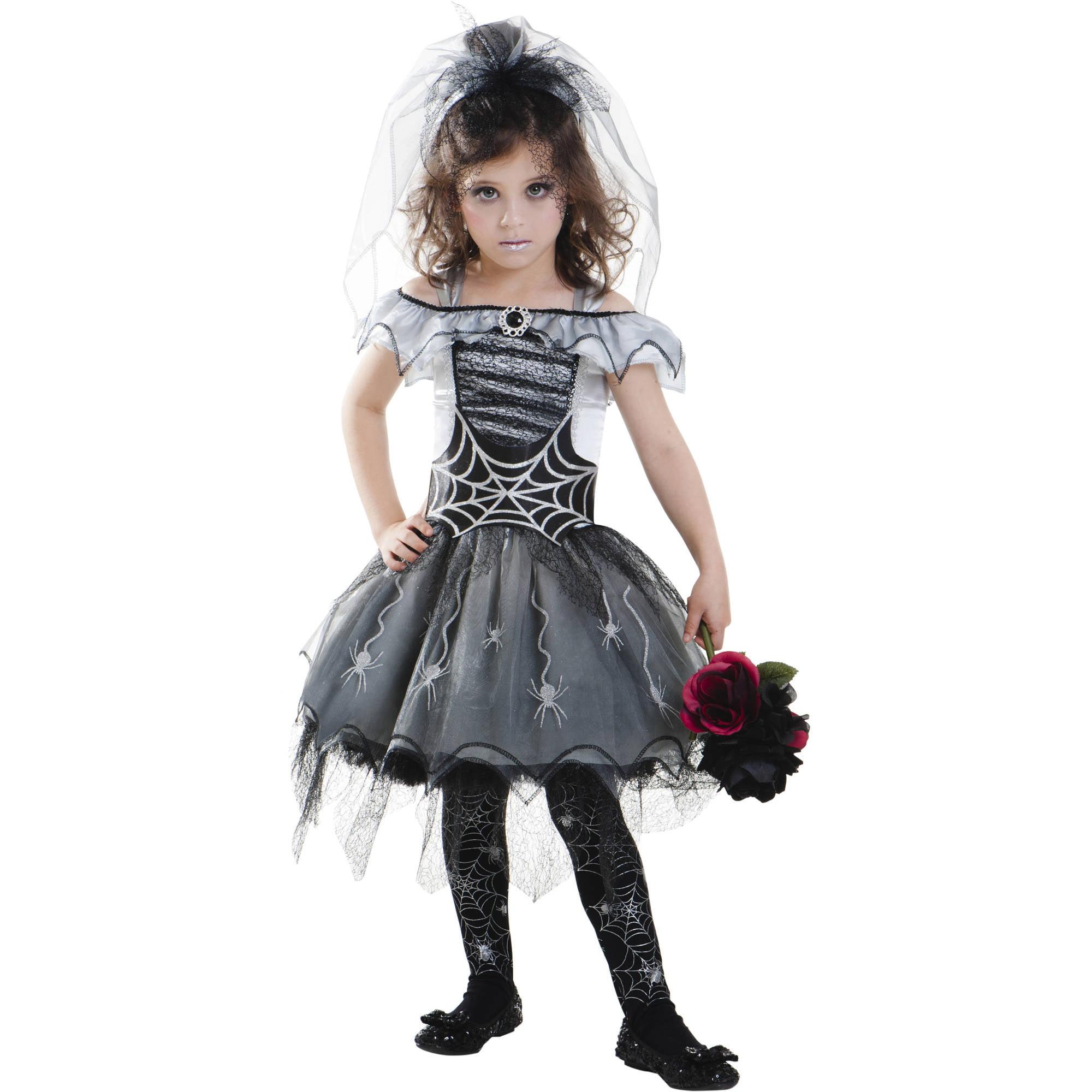 sc 1 st  Walmart & Gothic Spider Bride Child Halloween Costume - Walmart.com