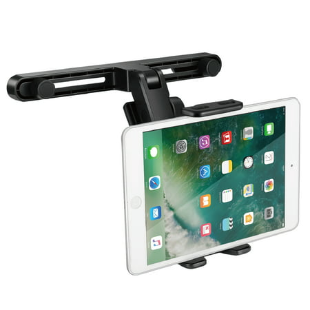 - Car Seat Headrest Tablet Phone Holder, Rotatable Bracket Mount with Adjustable Clamp for Apple iPad Pro Air Mini Surface Go iPhone Xs / Xs Max / X / Samsung Galaxy Note 9 / S9+ / Nintendo Switch