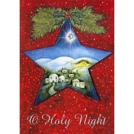 Lpg Greetings Holy Night Star Box Of 12 Religious Christmas Cards