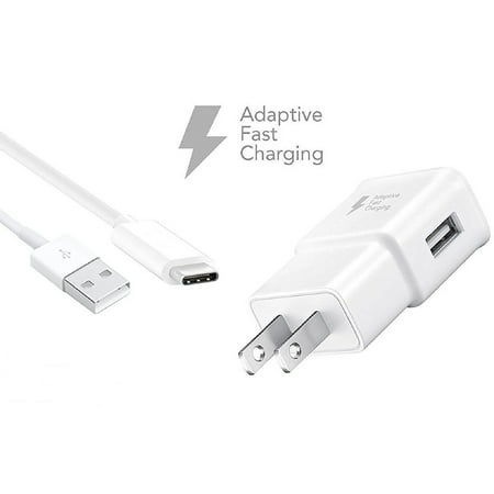 Adaptive Fast Charger Kit Compatible with Xiaomi Mi Max 2 Devices - [Wall Charger + 4 Feet USB C Cable] - AFC uses Dual voltages for up to 50% Faster Charging! - White - image 3 of 9