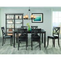 Picket House Furnishings Alexa 7-Piece Standard Height Dining Set in Gray