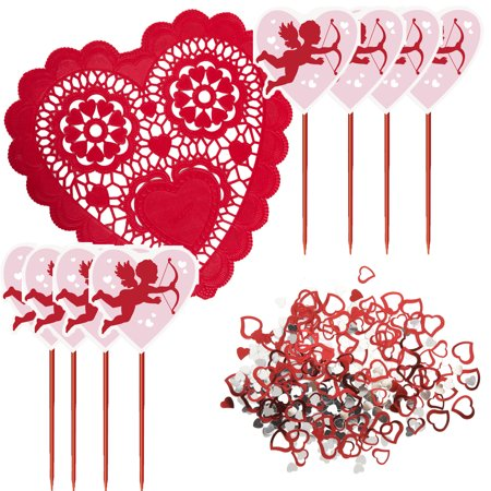 Veil Entertainment Valentine's Day Cupid 29pc Decoration Pack, Pink Red