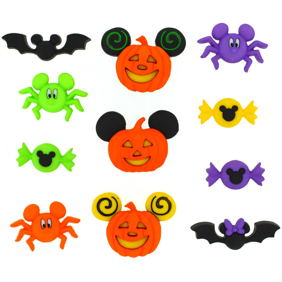 Dress It Up Licensed Embellishments, Disney Mickey and Minnie Halloween