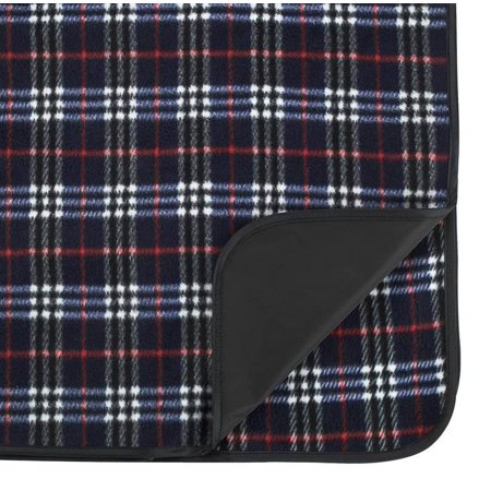 Outdoor Picnic Blanket With Waterproof Backing In Blue Plaid