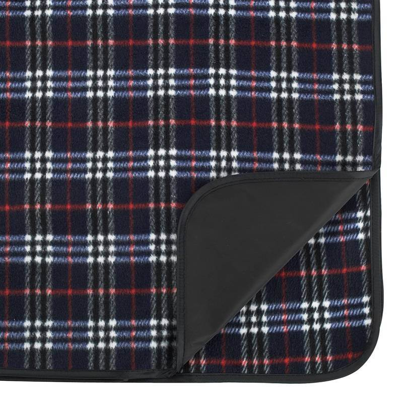 Outdoor Picnic Blanket with Waterproof Backing in Blue Plaid (Blue Plaid)