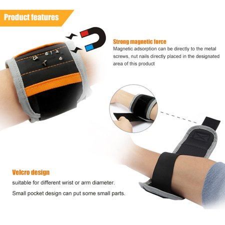 Magnetic Wristband Belt Bag For Holding Screw Nail Drill Bits Repair Tools