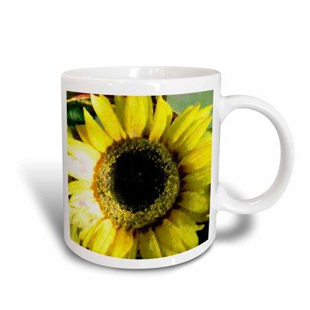 3dRose Huge Yellow Sunflower, Ceramic Mug,