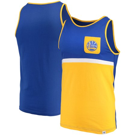 Golden State Warriors Fanatics Branded Color Block Pocket Tank Top - Royal/Gold