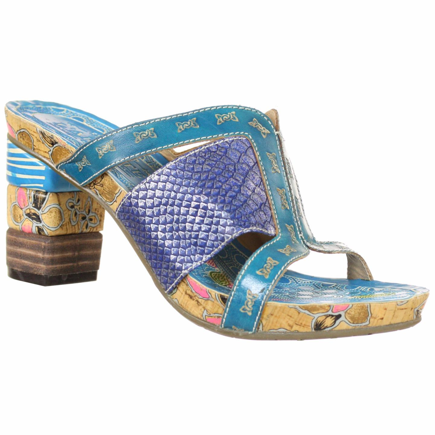 Bryn Spring Step L'Artiste Collection Women's Sandals Turquoise Multi EU 37 US 7 by Spring Step