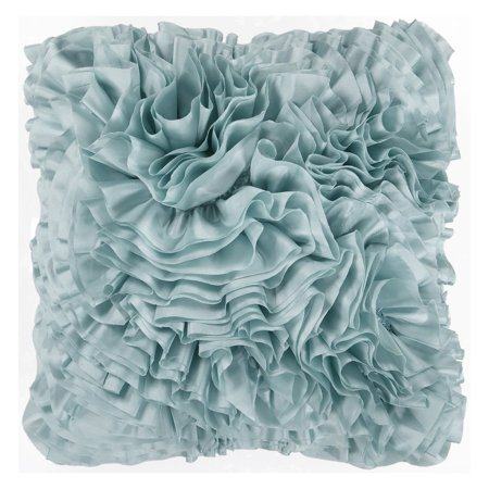 Decorative Pillows With Ruffles : Surya Ruffles Decorative Pillow - Light Blue - Walmart.com