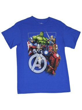 e03c6a18015d6 Product Image Avengers (Marvel Comics) Mens T-Shirt - Boxed Colorful Movie  Heroes