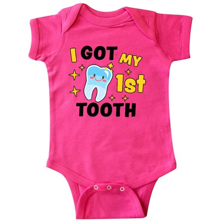 I Got My 1st Tooth with Cute Tooth Baby Infant Creeper