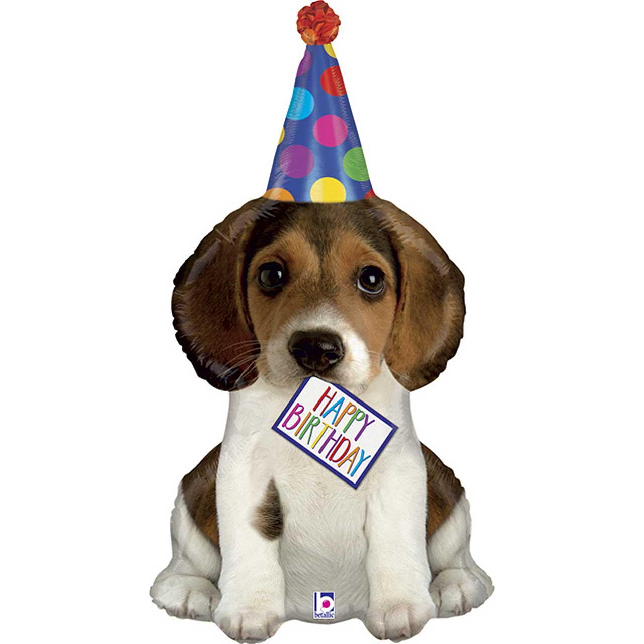 "XL 41"" Happy Birthday Puppy Dog Shaped Mylar Foil Balloon Party Decoration"