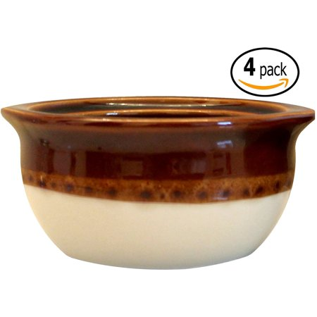 Porcelain Ceramic Onion Soup Crock Bowl With Pan Scraper