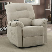 Deals on Coaster Power Lift Recliner Taupe Textured Chenille