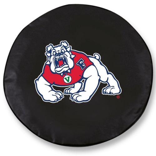 NCAA Tire Cover by Holland Bar Stool - Fresno State, Black - 29.75'' x 8''