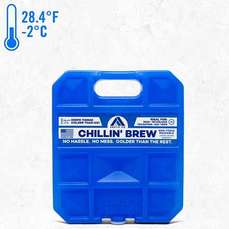 Long-Lasting Ice Pack for Coolers, Lunches, Camping, Fishing, and More, Chillin' Brew Series by Arctic Ice, Reusable Medium Ice (Best Freezer Packs For Coolers)