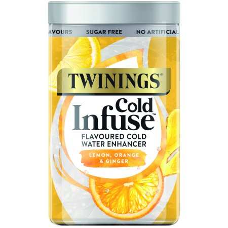 Twinings Cold Infuse Lemon, Orange, & Ginger, Tea Bags, 12 Ct