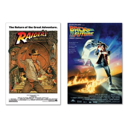 "Indiana Jones - Raiders Of The Lost Ark & Back To The Future - Movie Poster Set (Size: 27"" x 40"" each)"