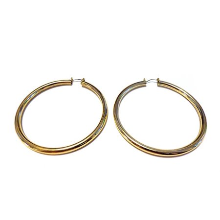 Large Gold Hoop Earrings Lightweight Round Hoops