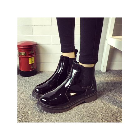 Classic Women's Rubber Rainboots Round Toe Shoes Ankle Boots Waterproof Outdoor