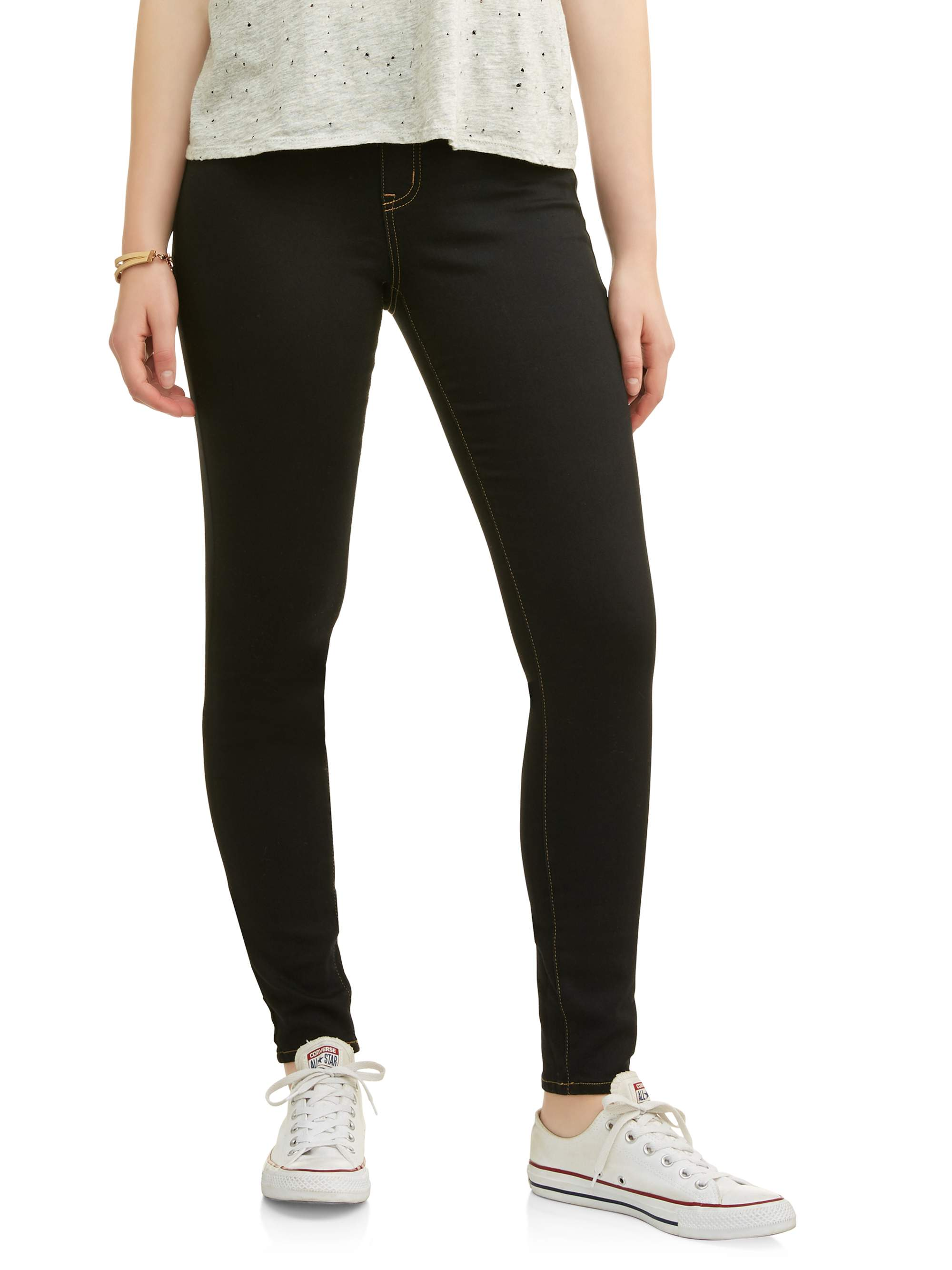 Juniors' Stacey Wide Elastic Waist Band Jegging