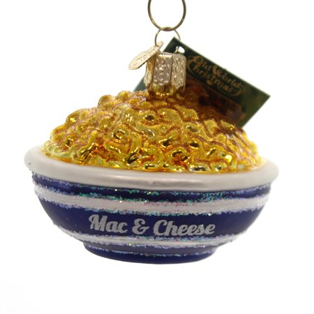 Old World Christmas BOWL OF MAC & CHEESE Glass Culinary Masterpiece