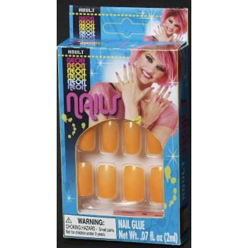 Halloween Finger Vine (NEON FINGER NAILS-ORANGE)