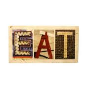 Language Art Wood ''EAT'' Letter Block